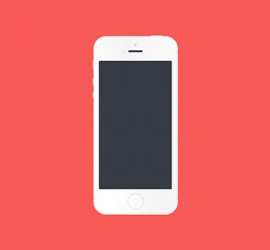 white-flat-iPhone-5S-display